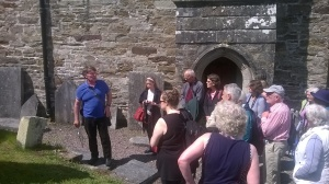Dr Jane Lyons and John Nangle guiding us through graveyard research