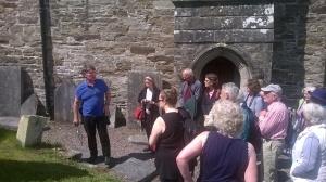 Dr Jane Lyons and John Nangle guiding us through graveyard research