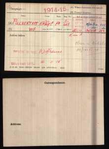 WW1 Medal Roll